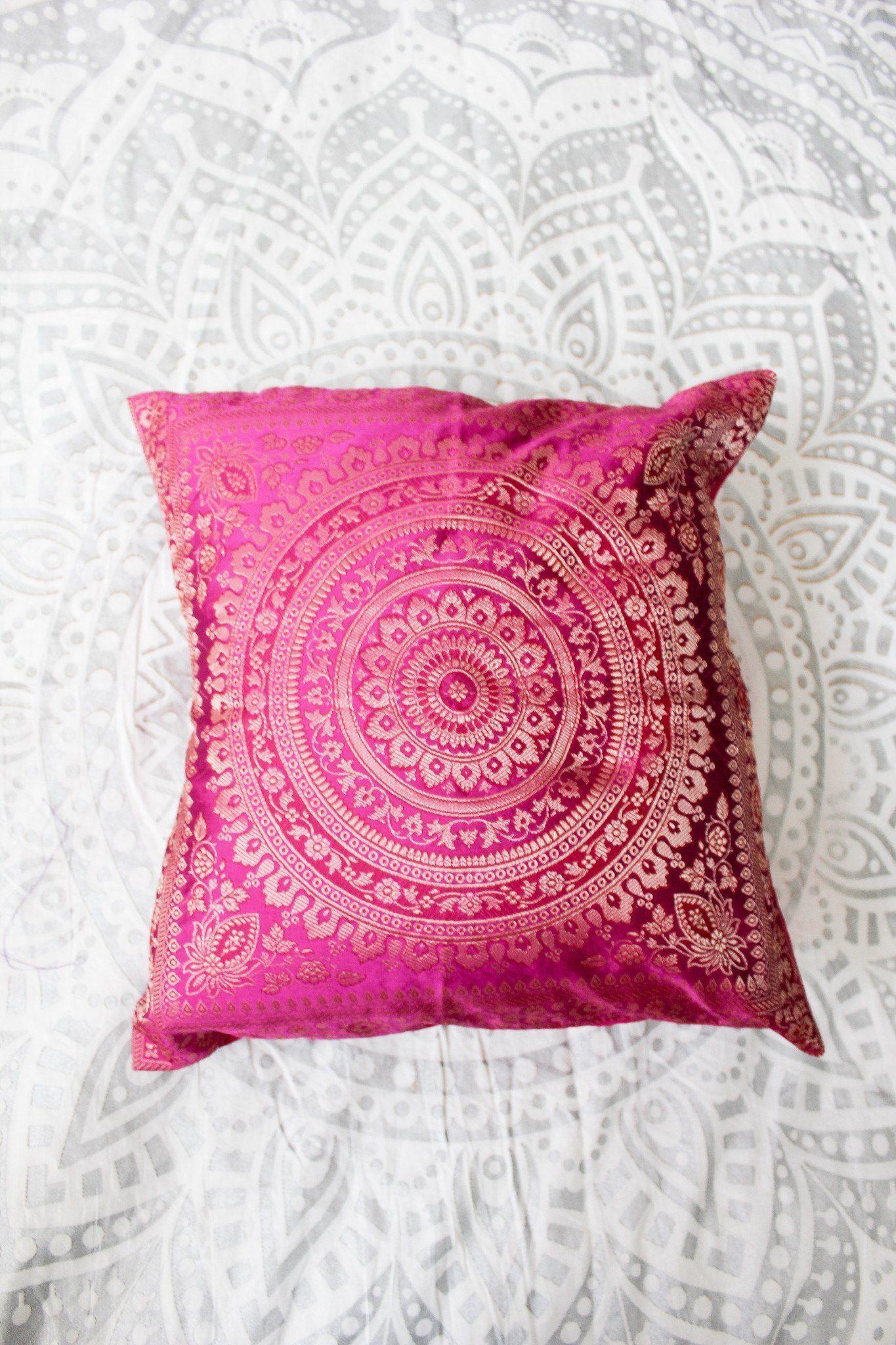 Hypnotic silk brocade pillow cover decorative pillow covers silk