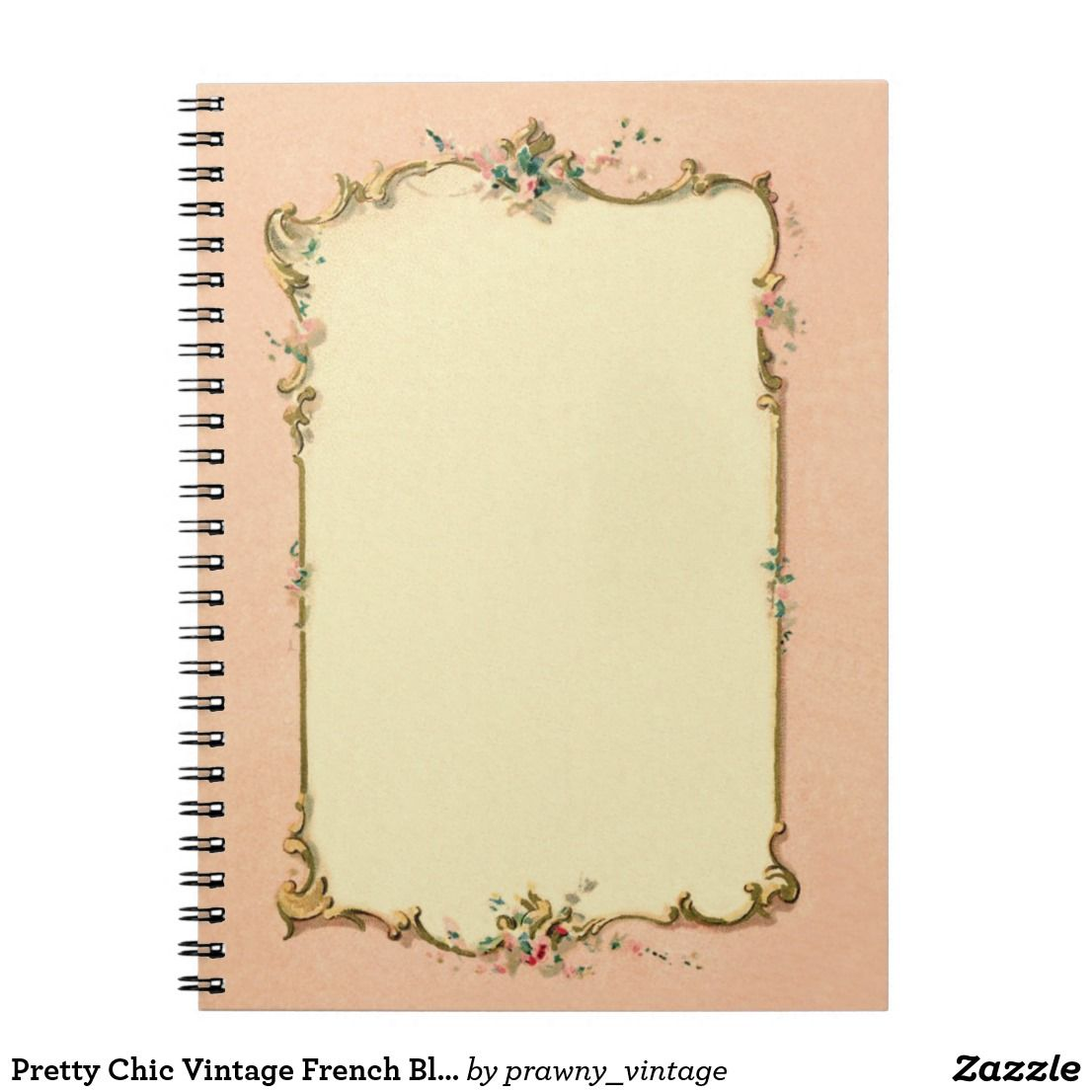 Create Your Own Spiral Photo Notebook Zazzle Com Vintage Chic Scrapbook Frames French Vintage