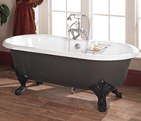 Freestanding Cast Iron Victorian Bath  Vintage Bathroom Design