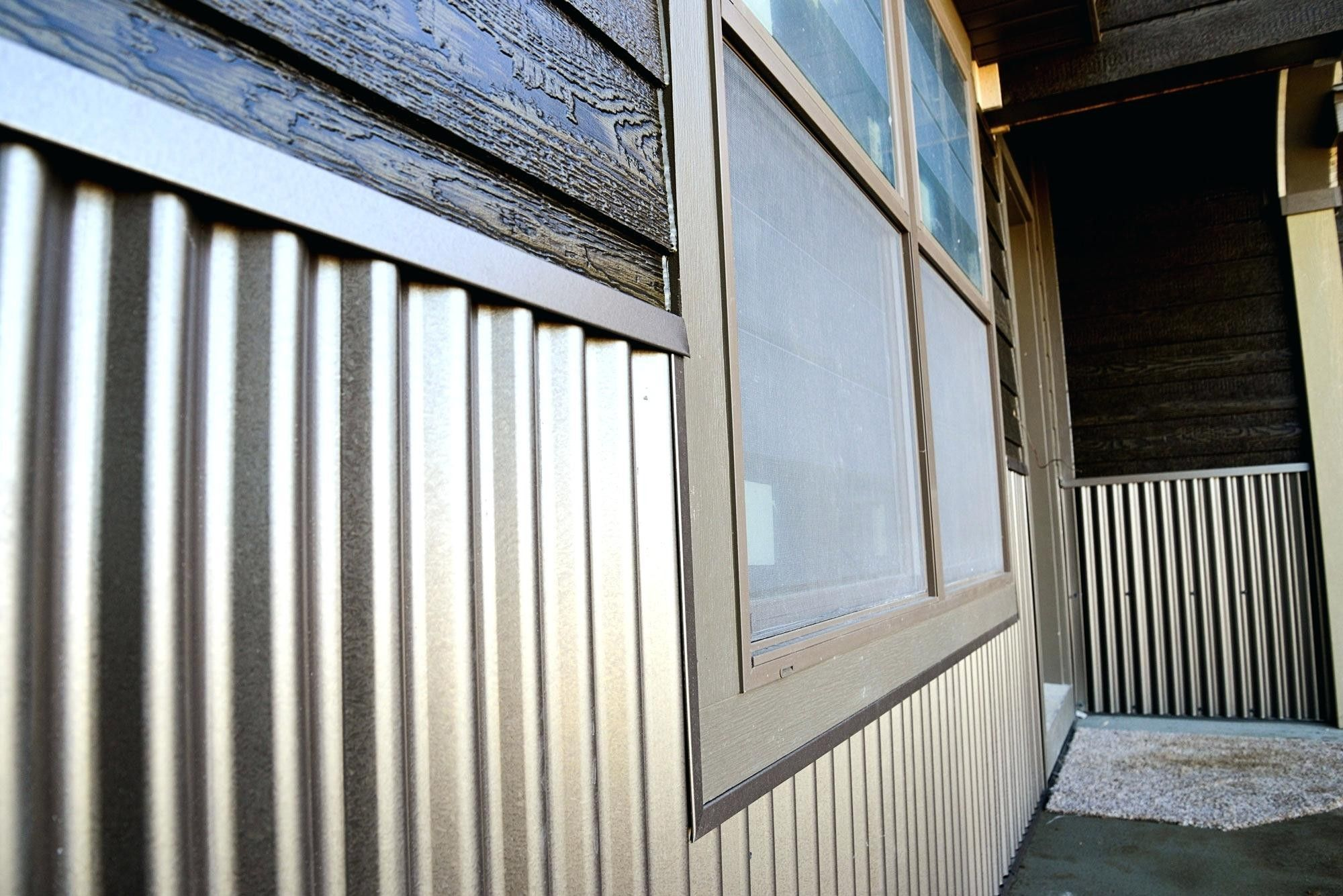 Exterior corrugated metal with images corrugated metal