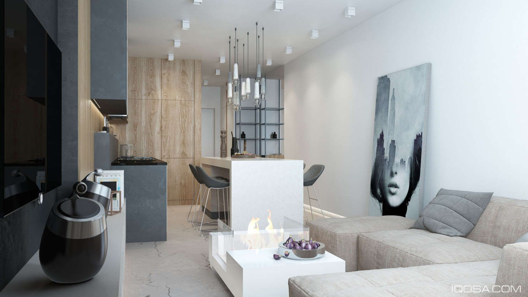 Modern Apartments Decorating Luxury Small Studio Apartment Design Combined Modern And