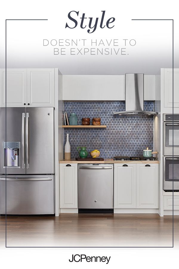 Update your kitchen with the Stainless Steel finish of GE