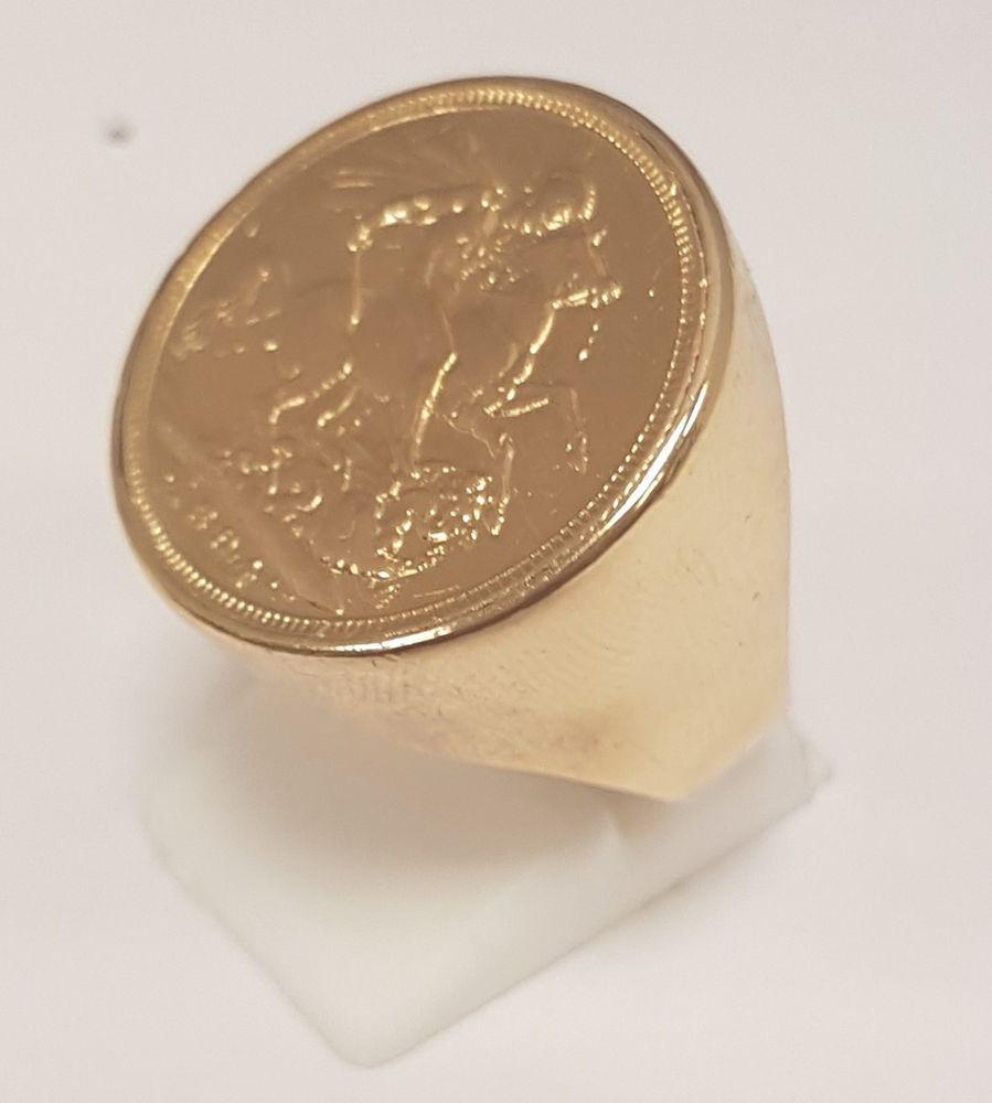 1 Sovereign Gold Earrings