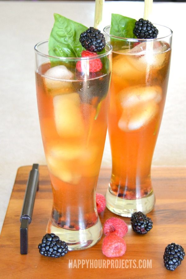Lemon Berry Iced Tea Cocktail With Lipton Pure Leaf At Www