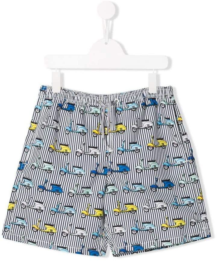 4e49a0c4ac Mc2 Saint Barth Kids Vespa Print Swim Shorts in 2019 | Products ...