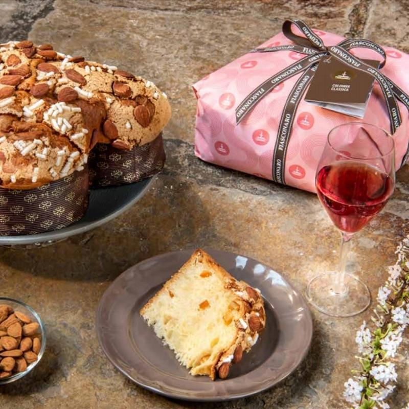 Colomba easter italian cake classica with almonds by