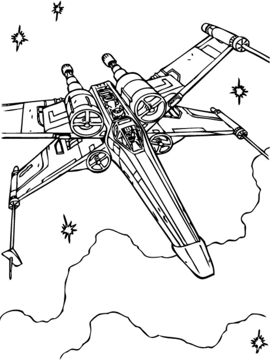 38 X Wing Coloring Page Coloring Pages Printable Coloring Color