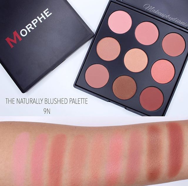 Morphe The Naturally Blushed Palette 9n Makeup Swatches