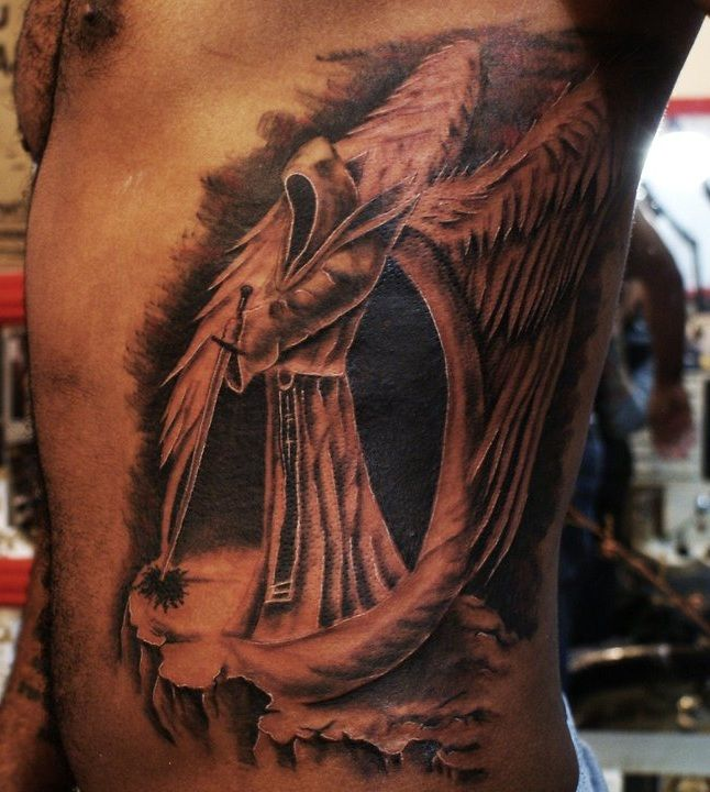 38acc748bf23b 3d dark angel tattoos on sleeve | Tattoo Design Ideas | Tattoos ...