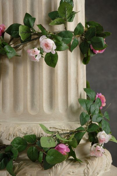 Rose Garlands w/  Miniature Pink & Beauty Red Roses  6' - Click to enlarge