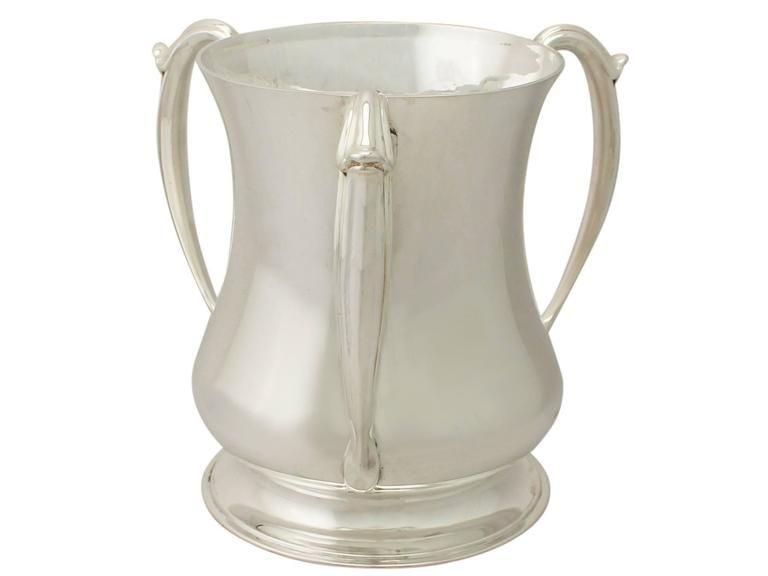 Sterling Silver Presentation/Champagne Cup, Art Nouveau Style, Antique Edwardian 2