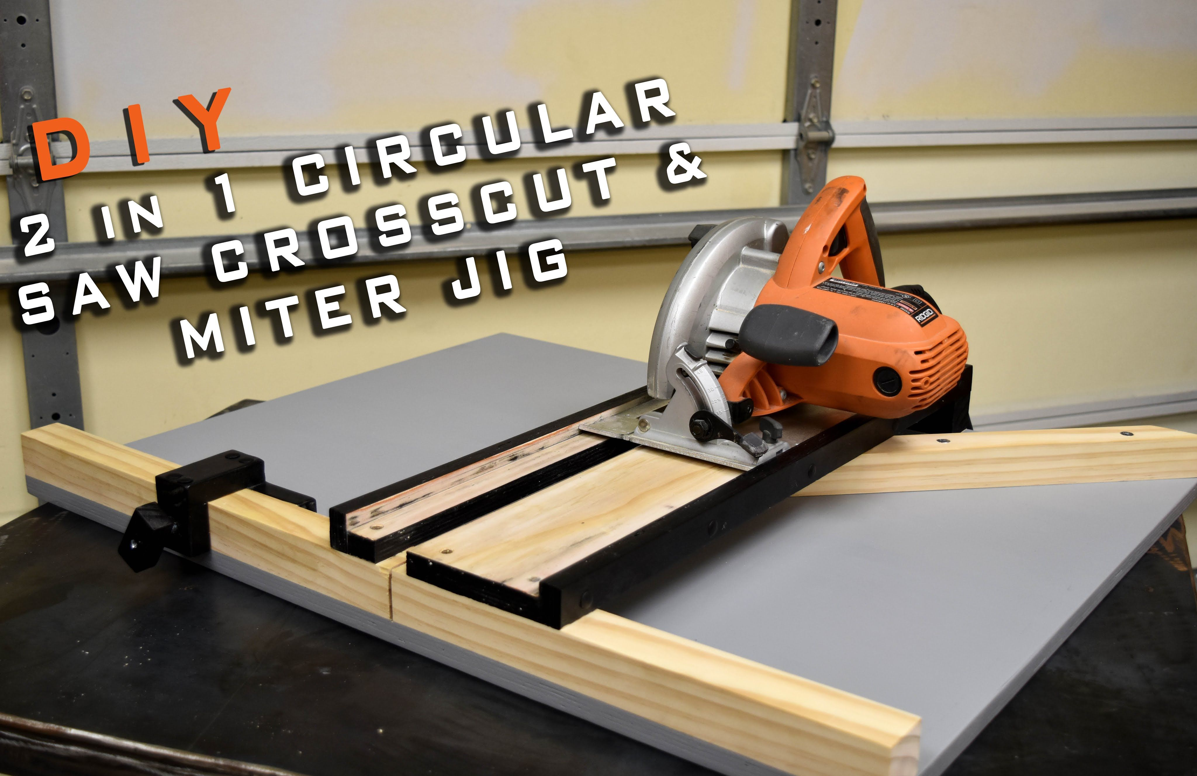 2 In 1 Circular Saw Crosscut Miter Jig Limited Tools Episode 003