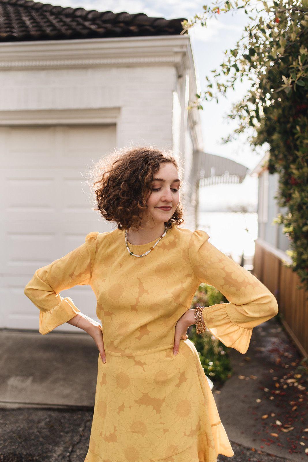 60 S Inspired Sunflower Yellow Realisation Par Dress Juliette Laura Dresses Realisation Par Wearing Dress [ 1600 x 1068 Pixel ]