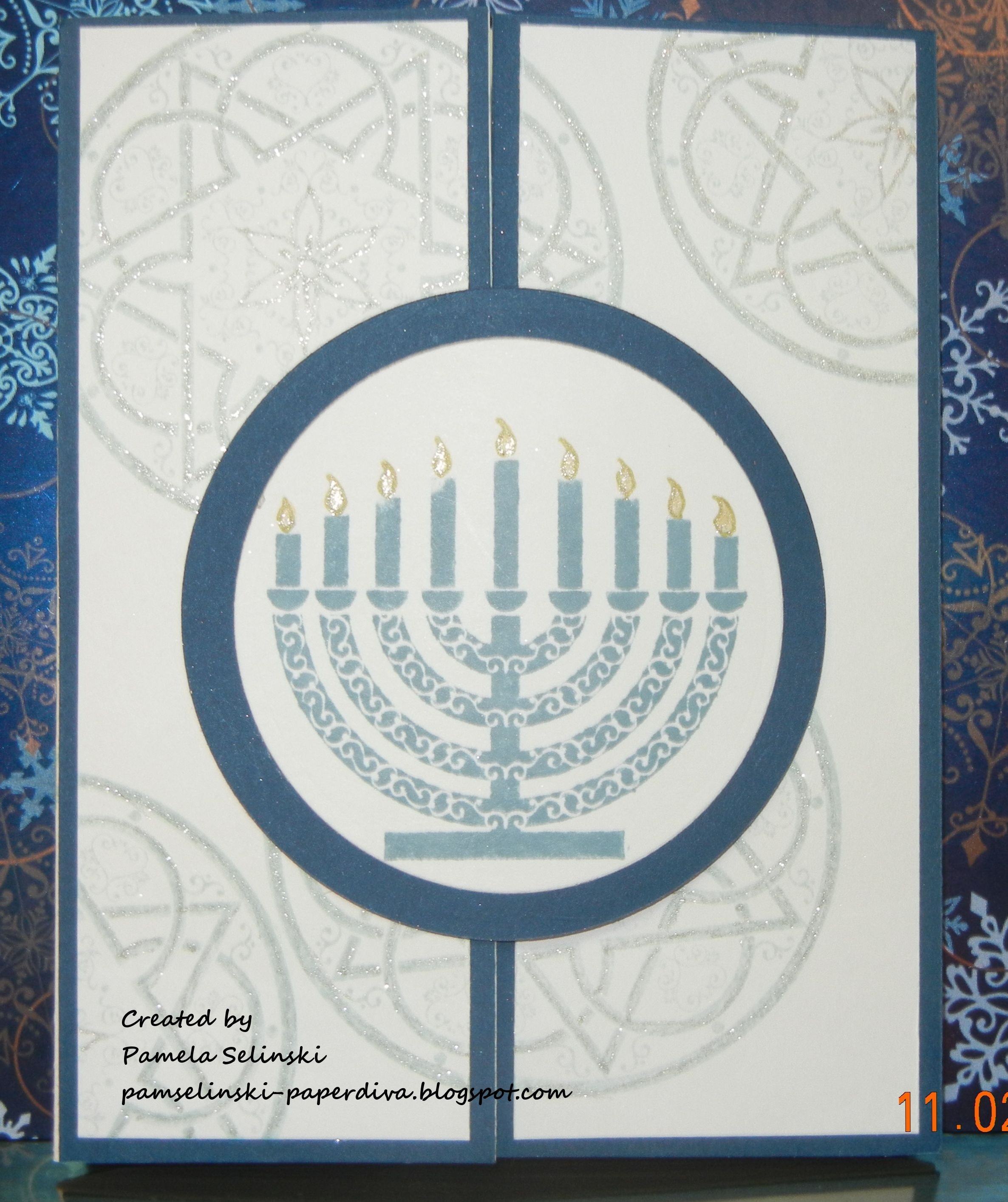 This is an image of Universal Printable Hanukkah Cards