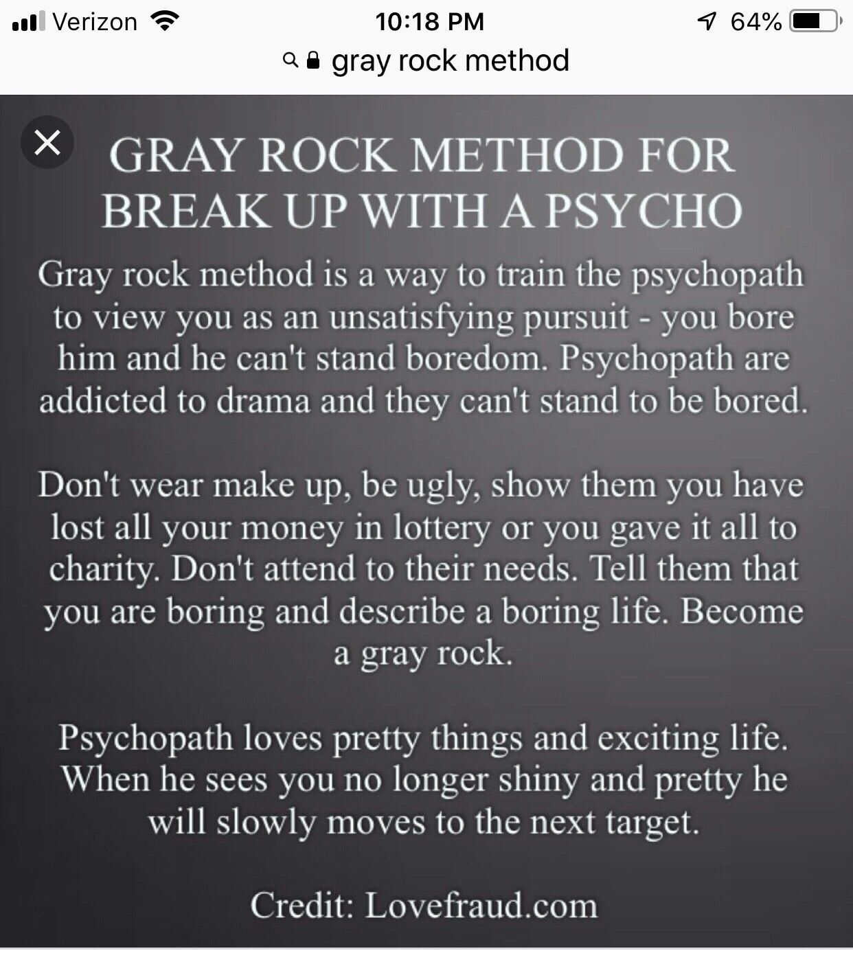 Pin by April Jones on Narcissism   Grey rock method ...