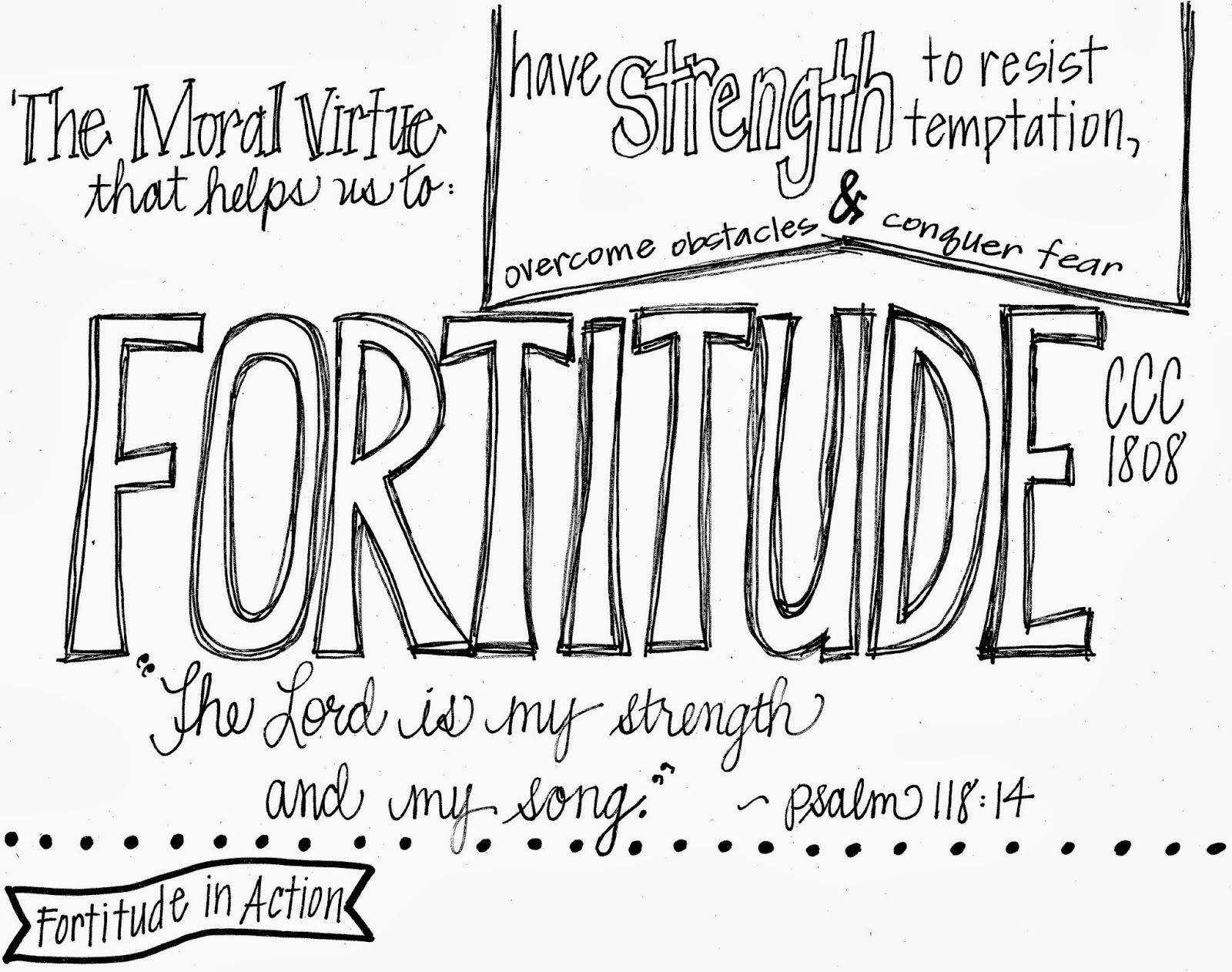 Printables For Each Of The Four Moral Virtues And Ideas