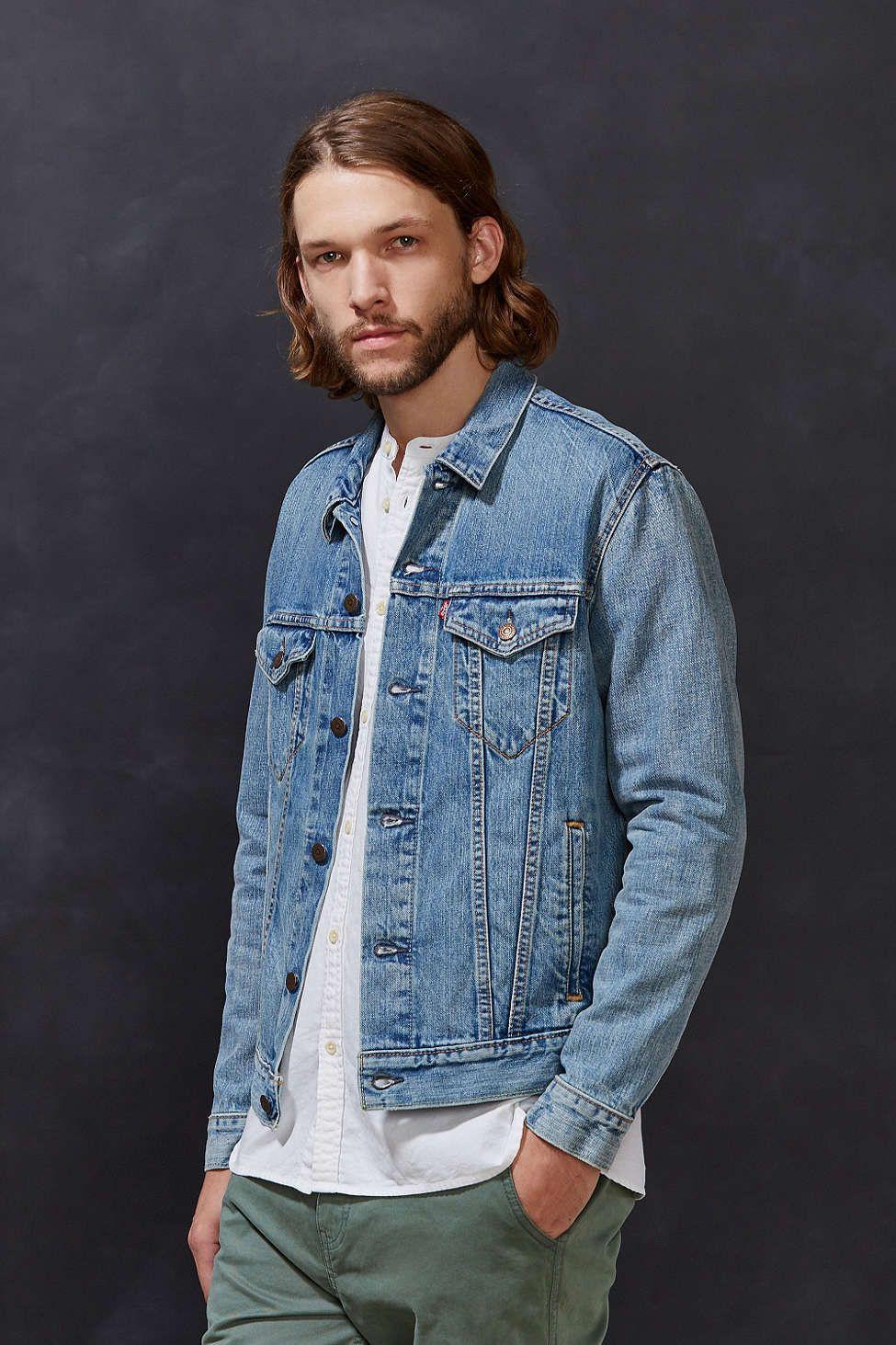 Levi's Icy Denim Trucker Jacket Jackets, Stylish mens