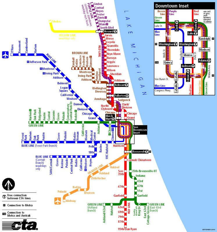 Transit Chicago Map.Took The Cta L To Get Around I Never Had A Car Didnt Need One
