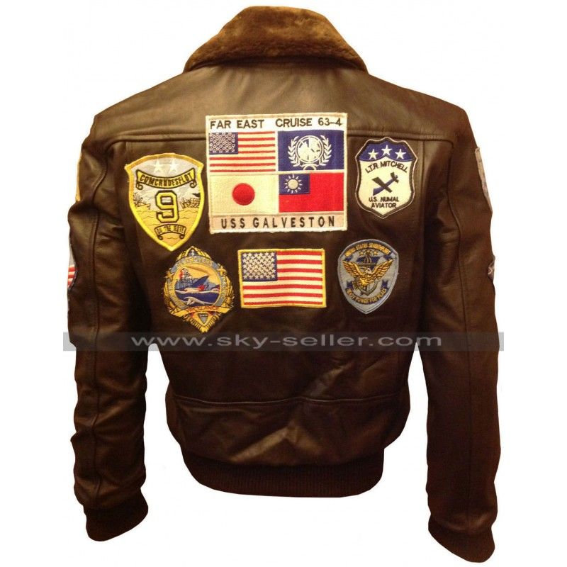 Pin On Tom Cruise Pilot Aviator Style Bomber Jacket With Patches