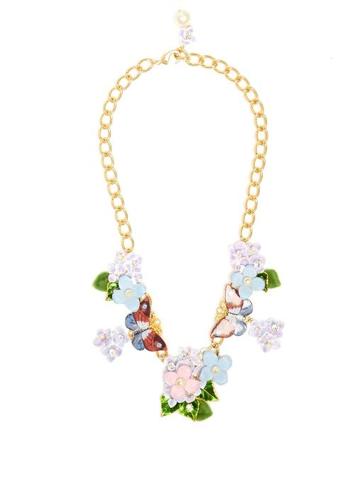 Butterfly crystal-embellished necklace Dolce & Gabbana WdJVML6HKj