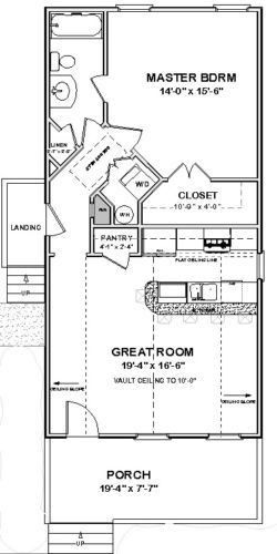 Details About Custom Tiny House Home Plans Narrow 1 Bed