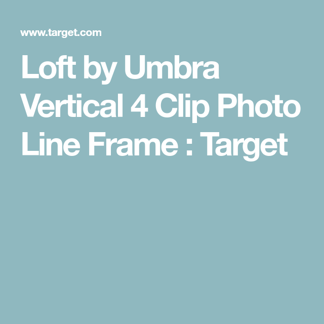 Umbra Loft By Vertical 4 Clip Photo Line Frame Lofts And Frames Online