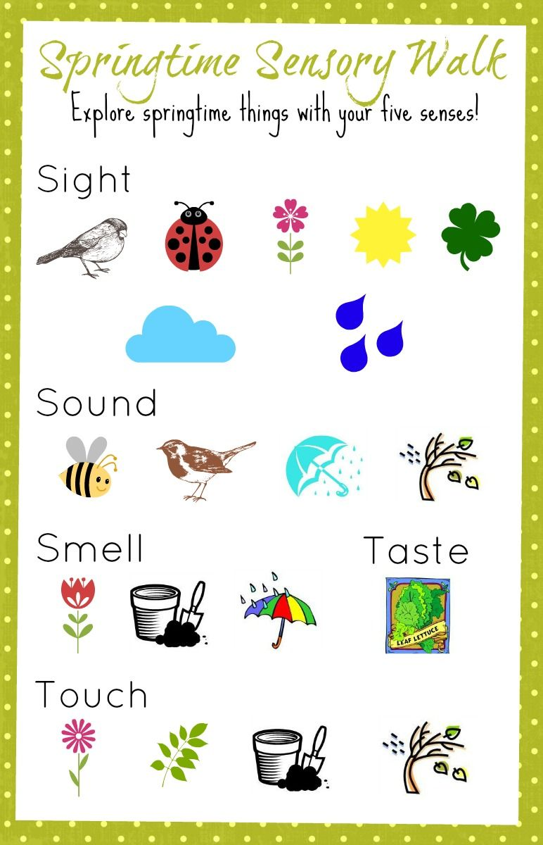 springtime sensory walk use this colorful printable to discuss the various signs of spring - Spring Pictures For Kids