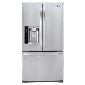 Lg 27 6 Cu Ft French Door Refrigerator With Single Stainless Steel French Door Refrigerator French Door Bottom Freezer French Door Bottom Freezer Refrigerator