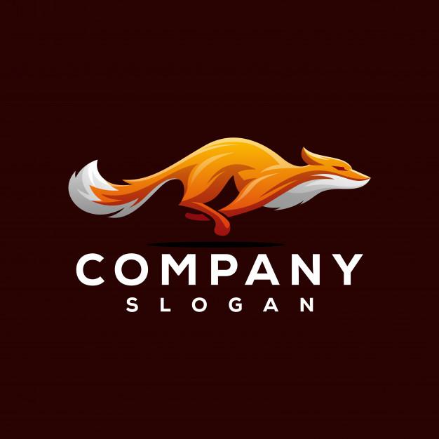 Fox logo design Vector Premium Download Художественные