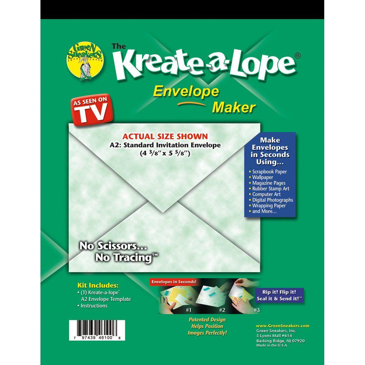 Scrapbook paper envelope template - Envelope Templates