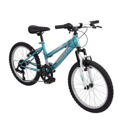 Huffy Highland 20 Kids Mountain Bike Aqua Blue White Mountain