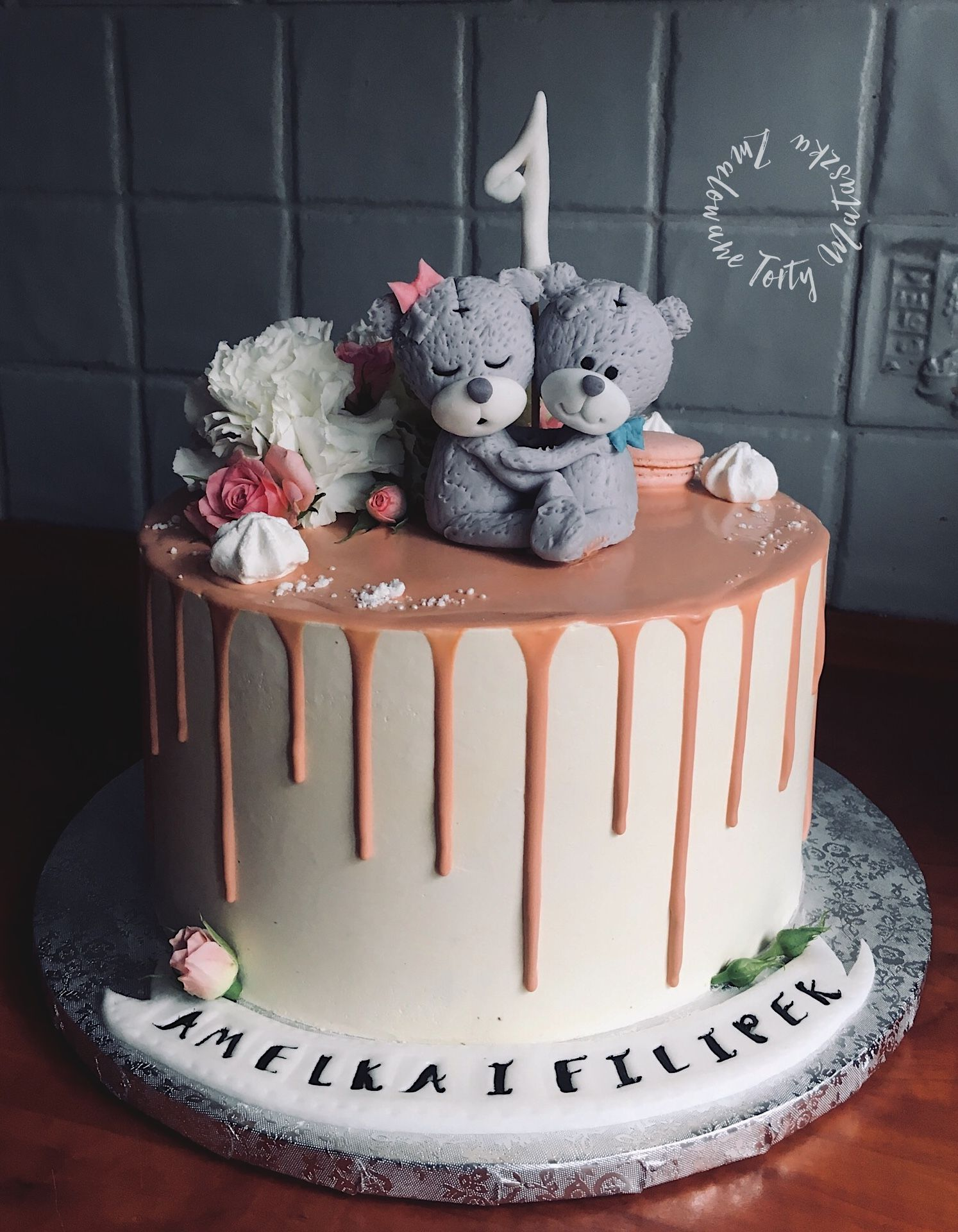 Cake For First Birthday For Twins Torty Urodzinowe Tort Blizniak