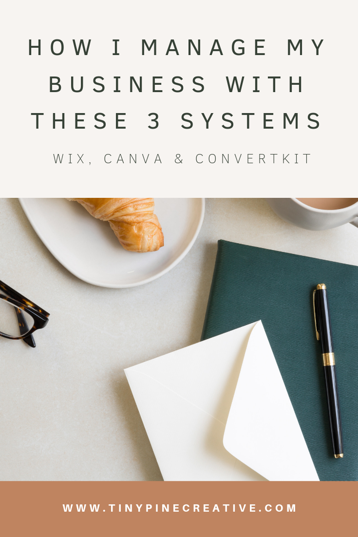 The Top 3 Systems I Use In My Business Wix Canva Convertkit Blog Post Graphics Beautiful Business Card Wix