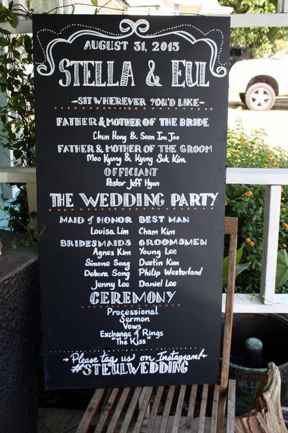 Hey, I Found This Really Awesome Etsy Listing At Https://www. Wedding  Program SignChalkboard ...