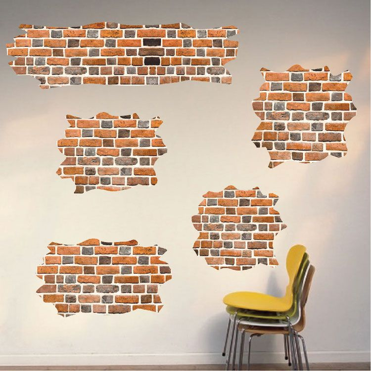 Brick Self Adhesive Wall Decals Wallpaper Decal Murals Primedecals