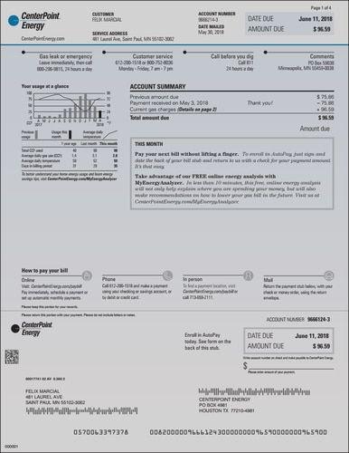 Energy Bill, Centerpoint Energy | Energy bill and Ohio