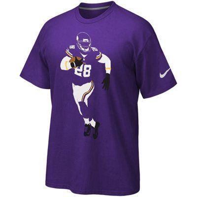 buy online 15fda affae Nike Adrian Peterson Minnesota Vikings Player Silhouette T ...