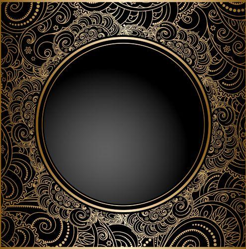 Black With Golden Vintage Background Art Vector Background Vintage Black Background Design Graphic Design Art