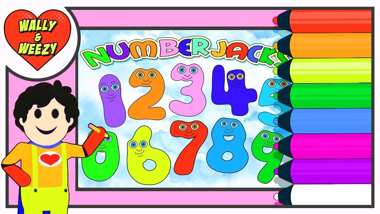 Numberjacks Coloring Full Episode Wally And Weezy Cute Coloring Pages Coloring Pages Free Coloring Pages