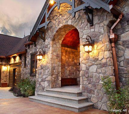 Home Exterior Bucks County Dressed Fieldstone Cultured Stone Brand Manufactured Stone Veneer