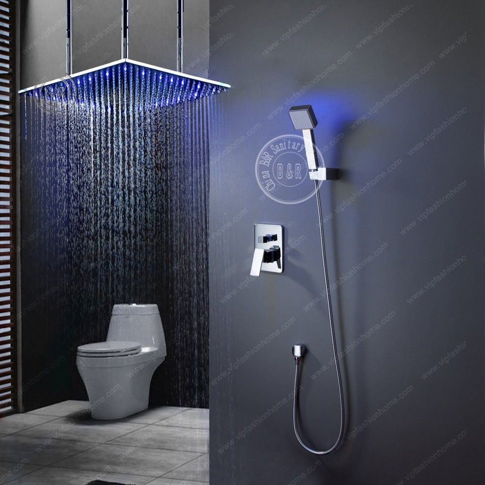 High quality BECOLA Brass Bathroom Super Deluxe Shower set and Big ...