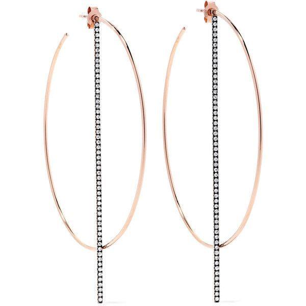 Diane Kordas 18-karat Rose Gold Diamond Earrings mgqTj
