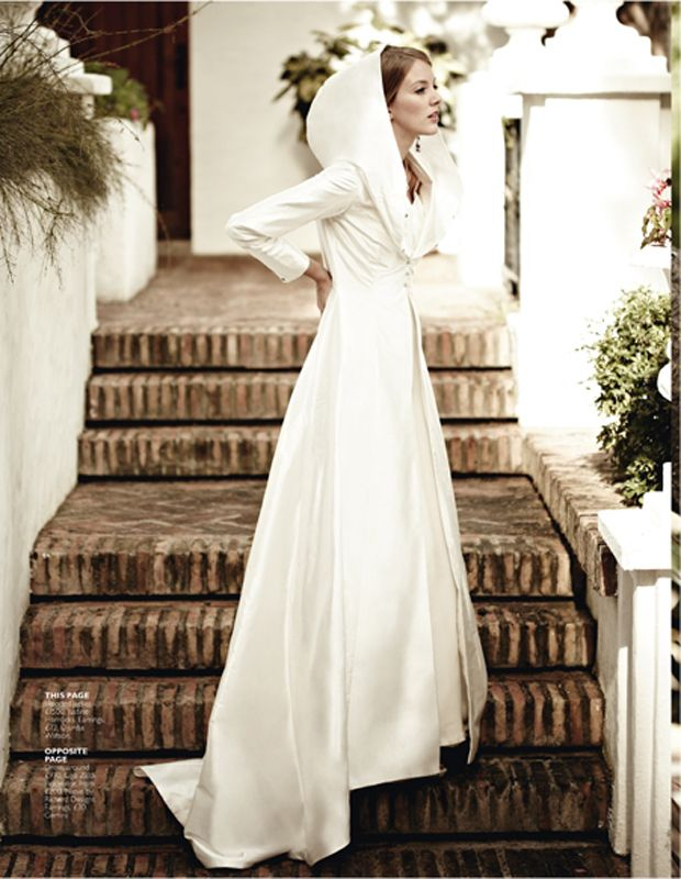 ... Winter Wedding Gown + Hood. Bridal dress with a hoodie  3 db8d60332a72