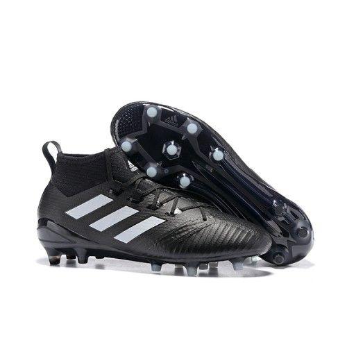 adidas ace 17.1 fg mens football shoes black white