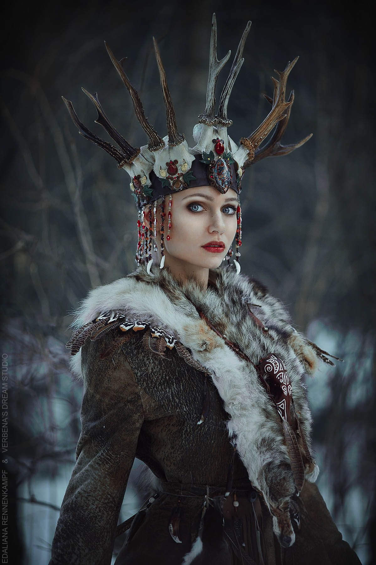 Princess kadyn altai princess scythian ak kadyn shaman with antler princess kadyn altai princess scythian ak kadyn shaman with antler crown druid deers nvjuhfo Choice Image