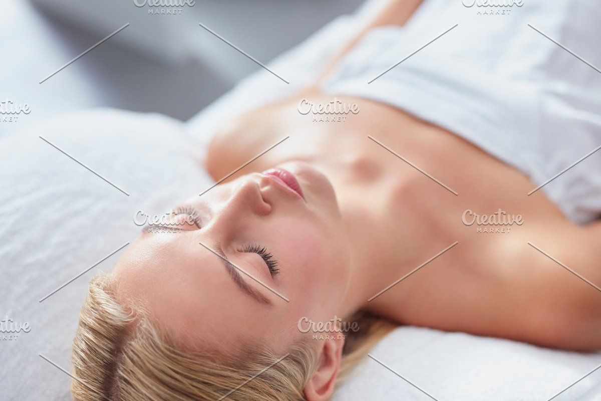 Smiling Woman In A Day Spa Spa Day Spa Caucasian Woman