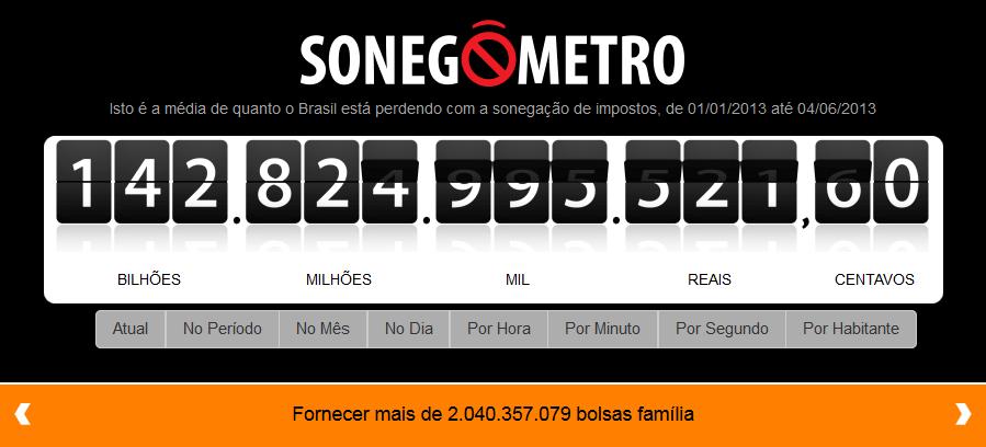 Sonegômentro www.sonegometro.com