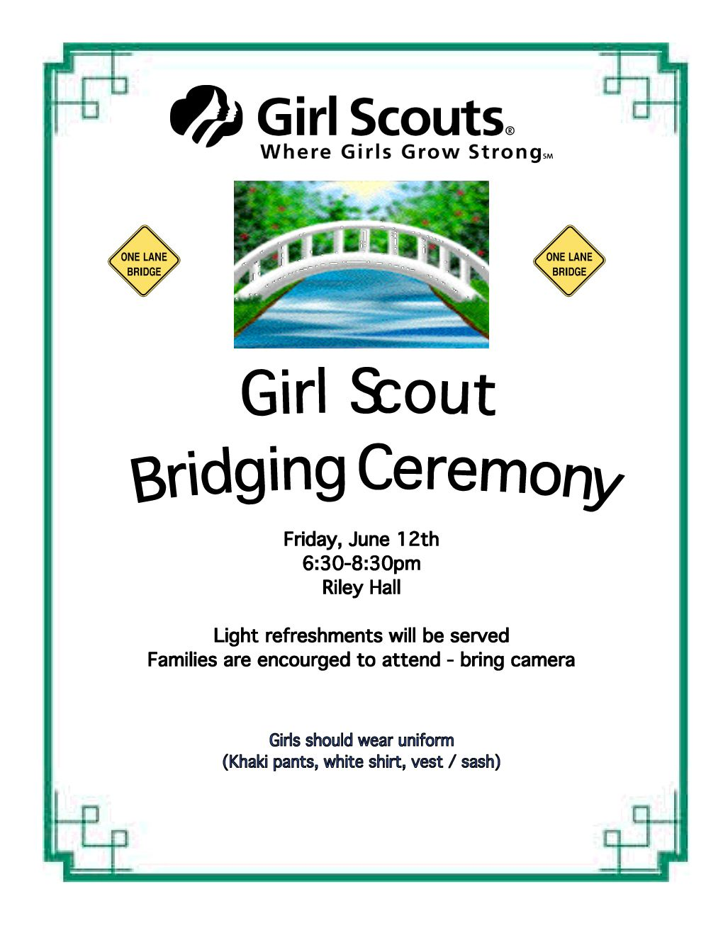 Bridging Ceremony - Hanover Girl Scouts | Ideas for Girl ...