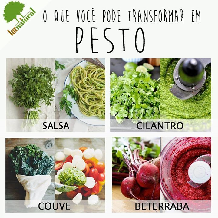 Receita: O que se chama de pesto é, na verdade uma combinação de: Queijo (parmesão) + castanha (nozes, de caju) + Azeite de oliva + alho + o que você quiser = ótimo pesto/molho