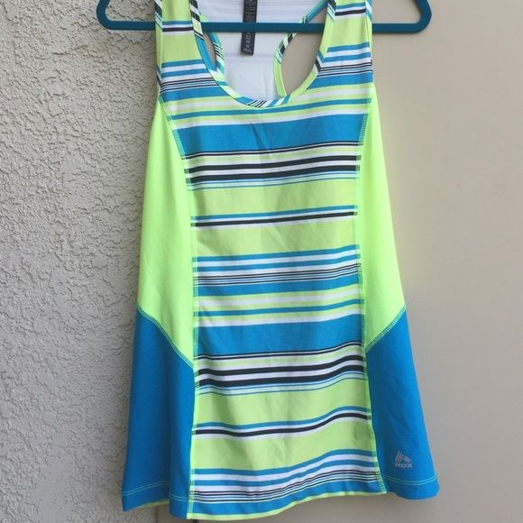 Dry fit work out tank top. Racer back play dry tank top. Never worn! Reebok Tops Tank Tops
